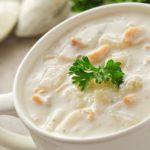 Суп молочный с морковью и картофелем Белорусская кухня