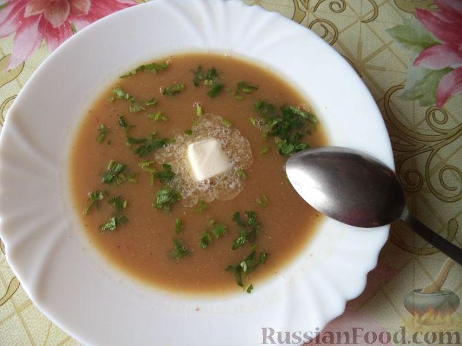 Суп-пюре из фасоли и чечевицы Первые блюда Турецкая кухня