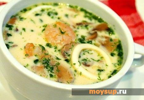 Суп с кальмарами Итальянская кухня