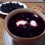 Суп сладкий из черники с клецками Эстонская кухня