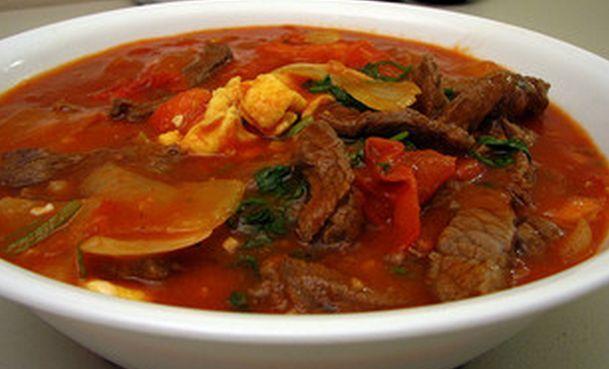Суп-харчо из говядины Грузинская кухня