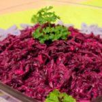 Свекольный салат с салом Салаты