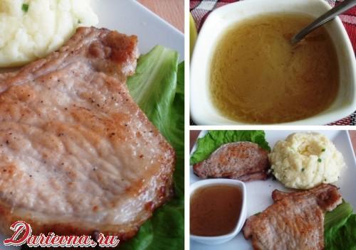 Свиные стейки с соусом из виски Блюда из мяса Вторые блюда