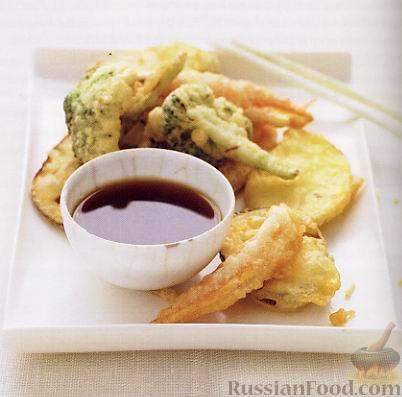 Темпура из овощей Японская кухня