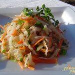 Теплый салат из дайкона Японская кухня