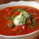 Томатный суп с говядиной Супы