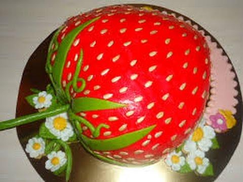 Торт «Клубничка» Выпечка