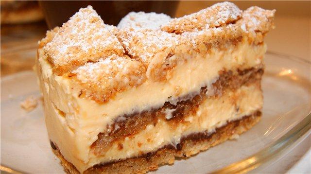 Торт «Лимонно-ореховый»