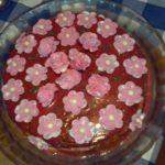 Торт закусочный из лососины и красной икры Закуски