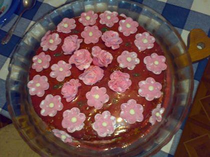 Торт закусочный из лососины и красной икры