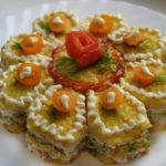 Торт закусочный овощной с сырным кремом Закуски
