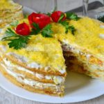 Торт закусочный с рыбными продуктами Закуски