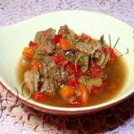 Тушеные овощи с острым соусом Японская кухня