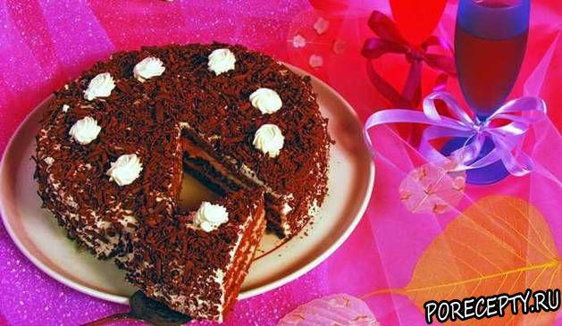 Творожный торт «Звездная ночь» Выпечка Торты