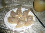 Вареники с сушеными яблоками Вареники Украинская кухня