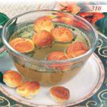 Вареные сочни с мясом и бульоном Казахская кухня