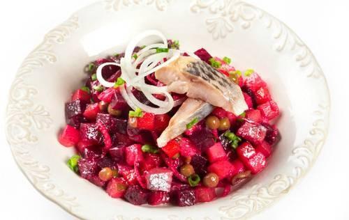 Винегрет из картофеля с сельдью (холодный) Рыбацкая кухня
