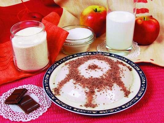 Яблочный мусс с тертым шоколадом Десерты Муссы