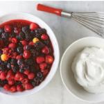 Ягоды с ванильным кремом Десерты Фруктовые десерты