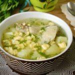 Яичный суп в горшочках Супы