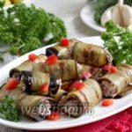 Закуска из баклажанов Баклажаны Закуски Из овощей