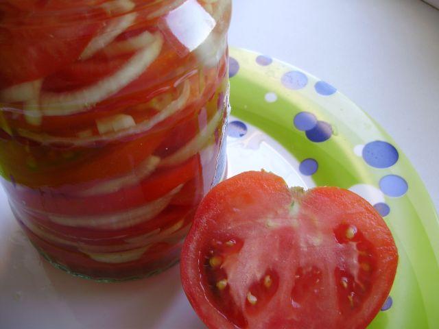 Закуска из помидоров в желе