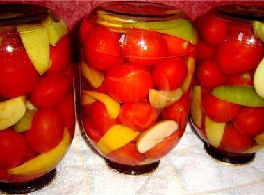 Закуска из томатов с яблоками Заготовки, консервирование