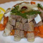 Заливные колобки из говядины или свинины Французская кухня