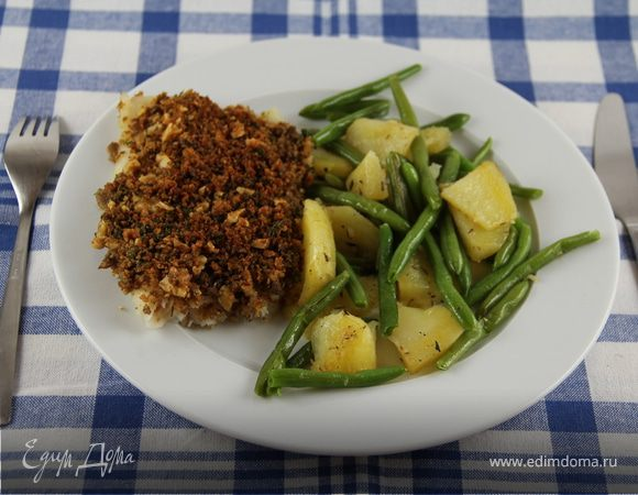 Запеченная рыба с ореховой корочкой Блюда из рыбы Вторые блюда