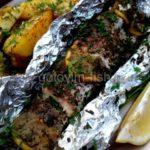 Запеченный угорь с лимоном Блюда из рыбы Вторые блюда