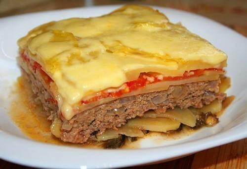 Запеканка с мясом Из картошки Из овощей