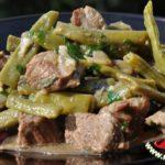 Зеленое лобио с мясом Грузинская кухня