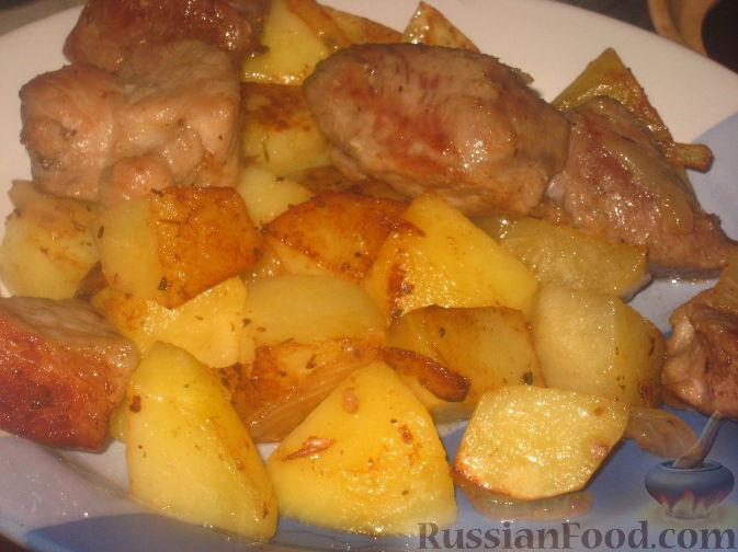Жаркое из свинины с картофелем Вторые блюда Праздничный стол