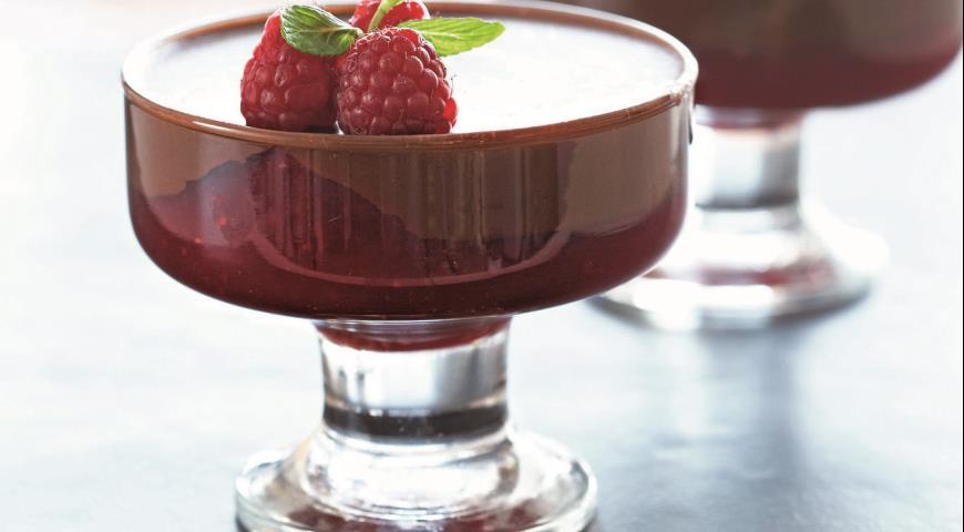 Желе из малины и шоколада Десерты Фруктовые десерты