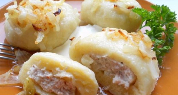 Галушки с мясным фаршем Украинская кухня