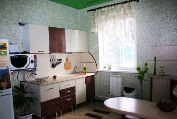 Жидкие обои на кухне: фото вариантов оформления стен Ремонт на кухне