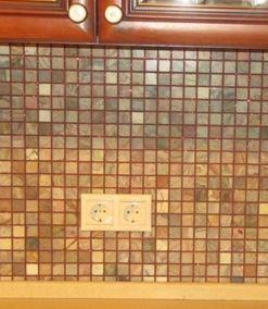 Расположение розеток на кухне Ремонт на кухне