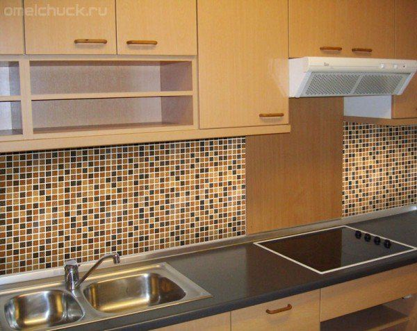 Фартук для кухни из мозаики своими руками Ремонт на кухне