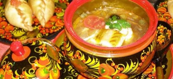 Старо — русское блюдо — рассольник Первые блюда Супы
