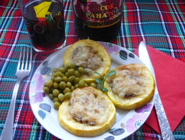 Кабачки с мясом и грибами Украинская кухня
