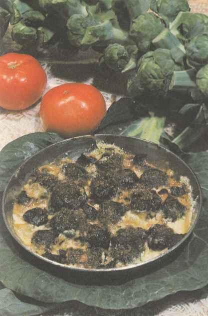 Капуста брюссельская, запеченная с черносливом