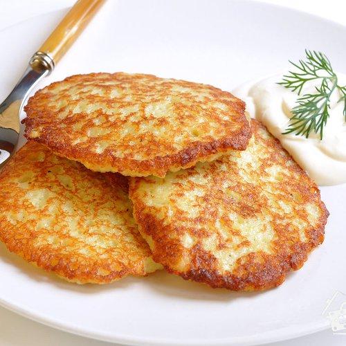 Драники (картофельные оладьи) Из картошки Из овощей