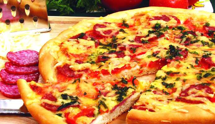 Пицца из сети ФИДО (рецепт пришёл по обмену рецептами) Пицца