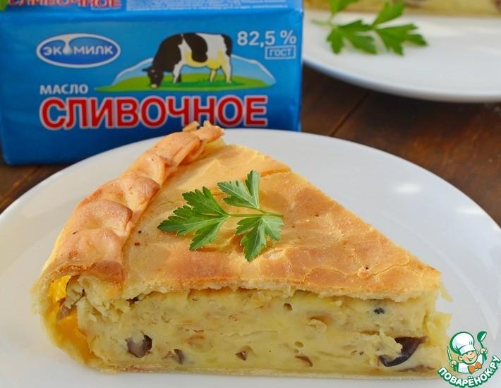 Пирог с картофелем и грибами Из картошки