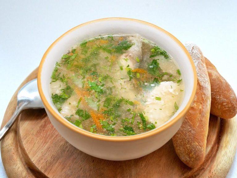Суп из рябчика со свежими грибами