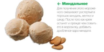 Миндальное мороженое