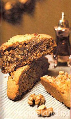 Бискотти с грецким орехом и черным перцем