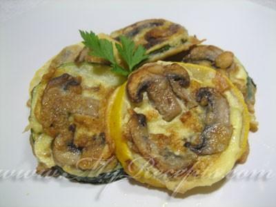 Кабачки, жаренные с грибами