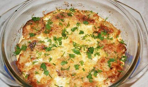 Картофель с грибами по-польски
