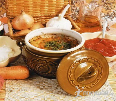 Картофельный суп в горшочке